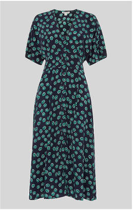 Whistles Lenno Print Naya Button Dress