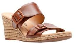 Clarks Collection By Lafley Devin Leather Wedge Sandals