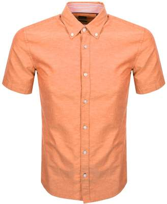 HUGO BOSS Boss Business Roddy Short Sleeve Shirt Orange