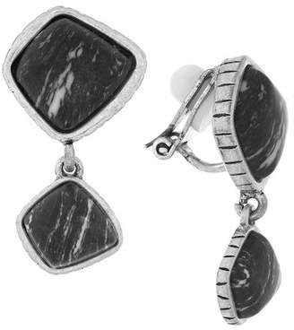 The Sak Double Stone Drop Earrings