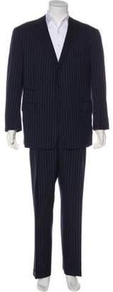 Ralph Lauren Purple Label Striped Wool Suit white Striped Wool Suit