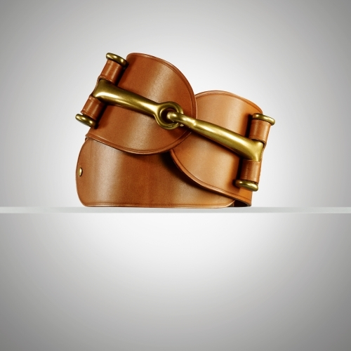 Ralph Lauren Equestrian-Bit Vachetta Belt