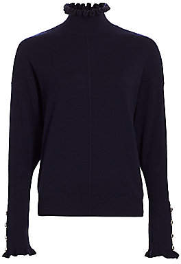 Chloé Women's Button-Accent Cashmere Turtleneck Sweater