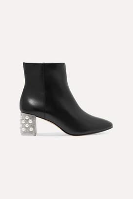 Sophia Webster Toni Embellished Suede Ankle Boots - Black