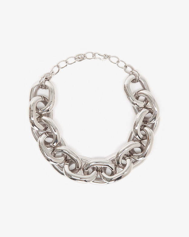 Kenneth Jay Lane Chunky Silver Link Necklace