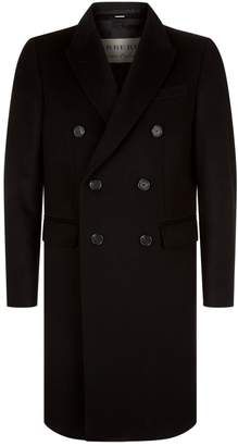 Burberry Double-Breasted Long Wool Cashmere Coat