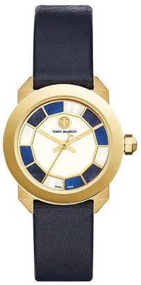 Women's Tory Burch Whitney Leather Strap Watch, 35Mm $495 thestylecure.com