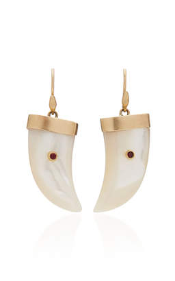 Annette Ferdinandsen M'O Exclusive: Mother Of Pearl Tiger Claw Earrings