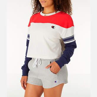 Champion Women's Long-Sleeve Crop T-Shirt