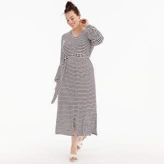 J.Crew Universal Standard for jersey long-sleeve maxi dress in stripe