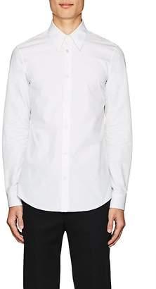 Calvin Klein Men's Embroidered Cotton Poplin Shirt