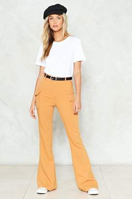 Nasty Gal Take Flare of Things High-Waisted Pants