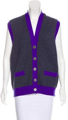 Chanel Cashmere Sleeveless Cardigan