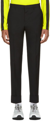 Prada Black Wool Slim Trousers
