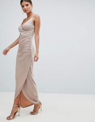 Girl In Mind Wrap Evening Maxi Dress