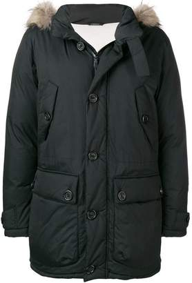 Ermenegildo Zegna fur hood trim padded jacket