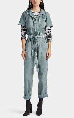 NSF Women's Macy Canvas Belted Jumpsuit - Green