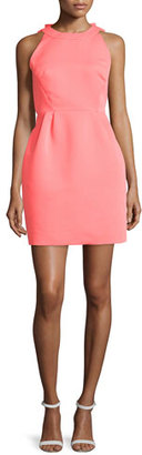 Kate Spade New York Sleeveless Open-Back Cupcake Dress, Surprise Coral $428 thestylecure.com