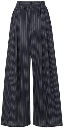 MM6 MAISON MARGIELA pinstriped cropped trousers