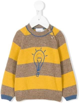 Knot lamp striped jumper