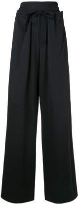 System high-waisted flared trousers