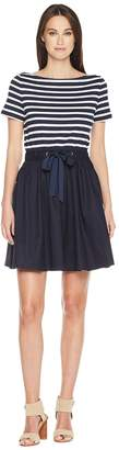 Kate Spade Stripe Knit Mixed Media Dress Women's Dress