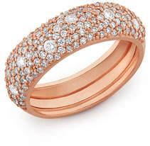 Lana 14k Rose Gold Diamond Curve Ring, Size 7