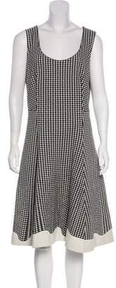 Prada Gingham Midi Dress