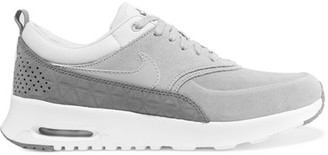 Nike - Air Max Thea Suede Sneakers - Light gray $115 thestylecure.com