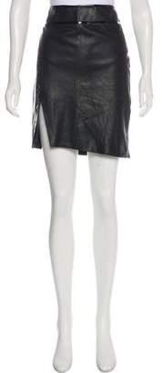 Helmut Lang Leather Knee-Length Skirt
