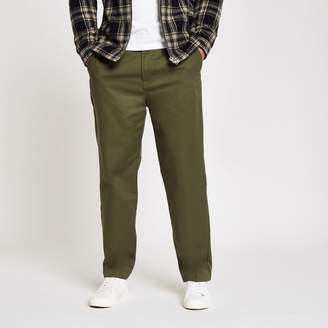 Mens dark Green relaxed chino trousers