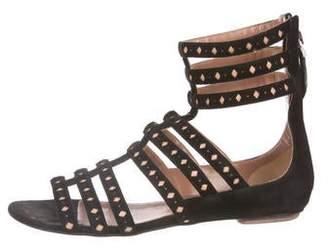 Alaia Suede Gladiator Sandals