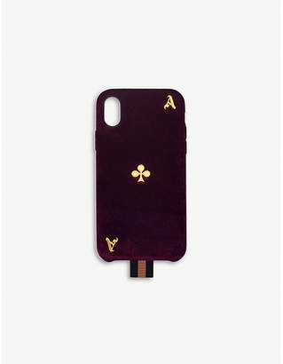 Chaos Ace Playing Card velvet and leather iPhone X/XS case