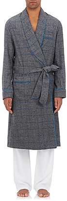 Barneys New York Men's Windowpane-Checked Wool-Blend Flannel Robe $795 thestylecure.com