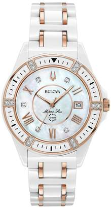 Bulova Women's Marine Star Diamond Ceramic Watch - 98R241 $775 thestylecure.com