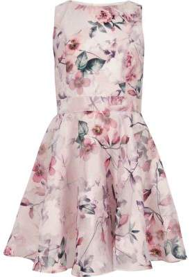 River Island Girls pink floral prom dress