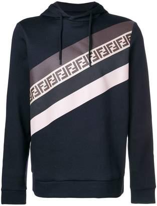 Fendi striped FF logo hoodie
