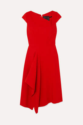 Roland Mouret Augustus Draped Crepe Dress - Red