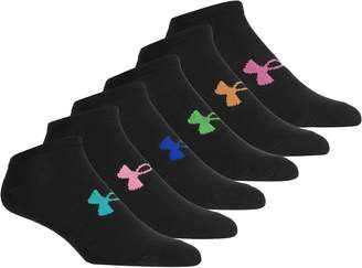 Under Armour Essential No Show Sock - 6-Pack - Girls'