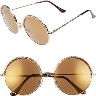 BP 58mm Chain Trim Round Sunglasses