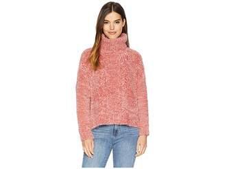 BB Dakota Eyelash Kisses Chenille Cable Knit Sweater