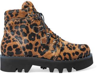 Tabitha Simmons Neir Leopard-print Calf Hair Ankle Boots - Leopard print