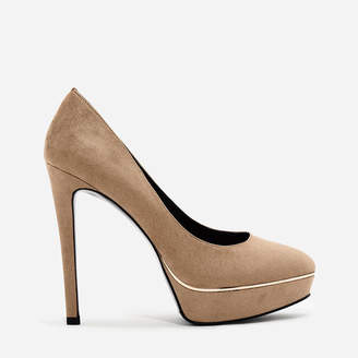Charles & Keith (チャールズ & キース) - コントラストディテールパンプス / CONTRAST DETAIL PUMPS