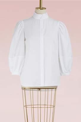 Alexander McQueen Cotton Puff-Sleeve Shirt