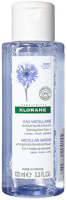 Klorane Travel Floral Water Make-up Remover with Soothing Cornflower