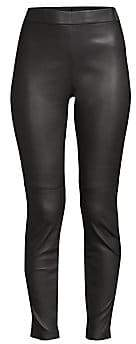 Elie Tahari Women's Roxanna Nappa Leather Leggings