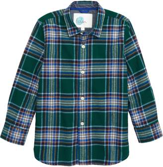 Boden Mini Check Brushed Flannel Shirt