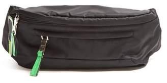 Prada Logo Nylon Belt Bag - Mens - Black Green