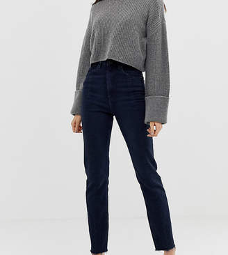dc04e0f3be2b Asos Tall DESIGN Tall Recycled Farleigh high waisted slim mom jeans in dark  wash blue with