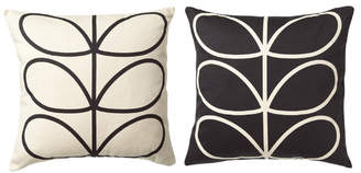 Orla Kiely Linear Stem Reversible Cushion Slate Blue